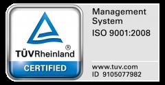 Certyfikat TUV Rheinland ISO 9001:2008